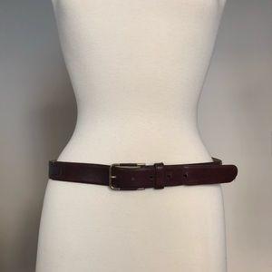 CHRISTIAN DIOR Dark Brown Leather Belt